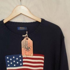 Polo Ralph Lauren American Flag Sweater L